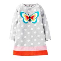 Kidsalon Long Sleeve Dress Girls Clothes 2017 Brand Winter Kids Dresses For Girls Animal Applique Princess
