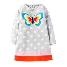 Long Sleeve Dress Girls Clothes 2018 Brand Winter Kids Dresses for Girls Animal Applique Unicorn Princess