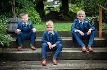 Custom Made Kid's 3 Piece Wedding Groom Tuxedos Flower Boys Children Party Suits new style kid party graduation suit wedding page boy tuxedos custom made 2 piece