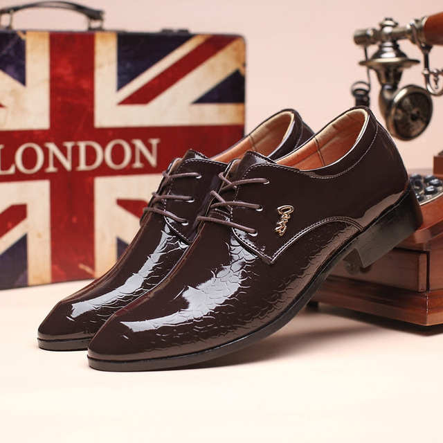 US $17.92 52% OFF|Designer kleid oxford schuhe für männer krokodilleder schuhe herren italienische lackleder schwarz schuhe zapatillas hombre sapato