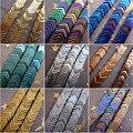 2017 Bonito Pequeno 5x7x1mm rainbow prata Azul verde roxo Fosco Hematita V-forma Cadeia solta Pérolas 200 pçs/lote Frete Grátis