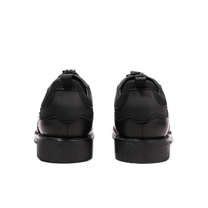 Robe Plate Formelle Oxfords Cuir La Sculpté Main Véritable Chaussures forme Banquet De Bout D'aile Richelieu Britannique En Rond Hqs140 Hommes Homme Noir À qFgZwxwa
