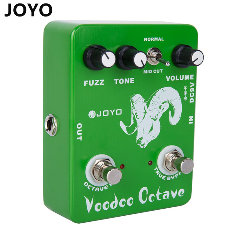 JOYO JF-12/High Quality  Guitar Effect Pedal Voodoo Octave Fuzz Effect with electric bass dynamic compression effects mooer ensemble queen bass chorus effect pedal mini guitar effects true bypass with free connector and footswitch topper