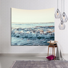 New Ocean Scenic Tapestry Colored Sea Printed Yoga Mat Decorative Mandala Home Wall Hanging Cover