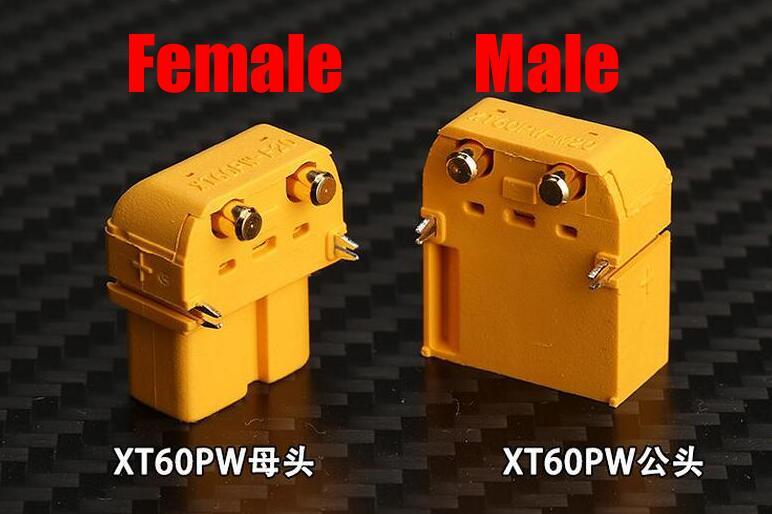 Kostenloser Versand Amass XT60PW Steckverbinder XT60 Upgrade Male & Female für Ausgewogene auto schubkarre gefackelt auto