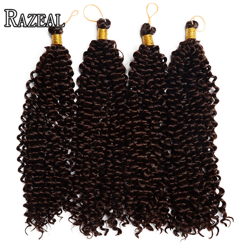 Razeal Curly Crochet Prodlužování vlasů Bohemian Crochet Braids Synthetic Braiding Hair High Temperature Fiber One Piece