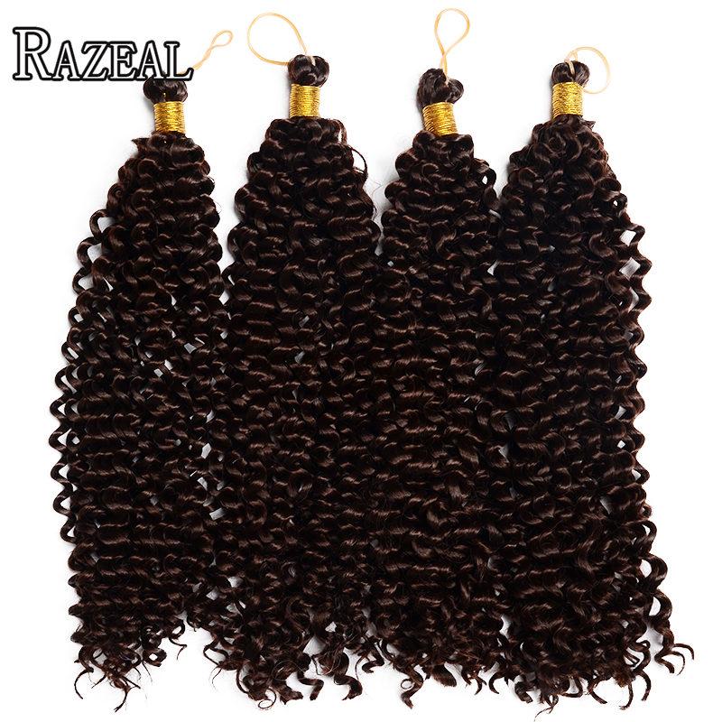 Razeal Curly Crochet თმის გაფართოება Bohemian Crochet Braids სინთეზური Braiding თმის მაღალი ტემპერატურა ბოჭკოვანი ერთი ცალი