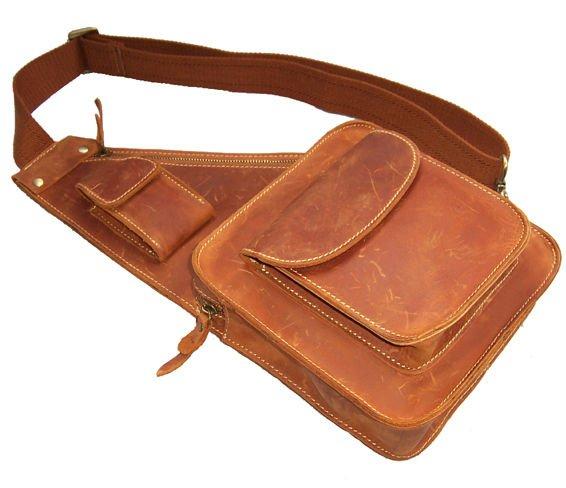 Wholesale Fashion handmade vintage Crazy Horse Leather bag