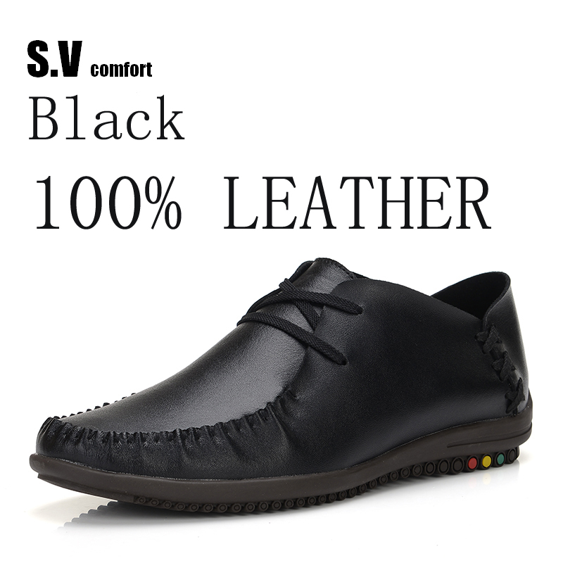 ФОТО Leather Casual Shoes Zapatillas Hombre Casual Sapatos Business Shoes Oxford Flats Hand Made Man Shoe Free Shipping SV Comfort