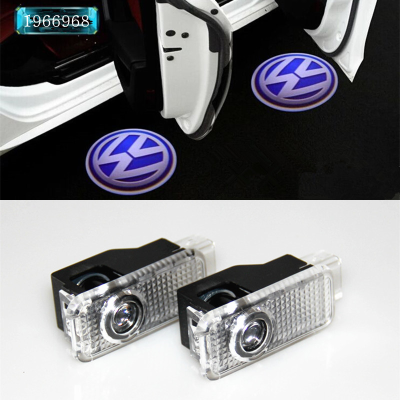 2X  LED Car door courtesy laser projector Logo Ghost Shadow Light FOR Volkswagen VW Passat B5 B5.5 phaeton jingxiangfeng 2 pcs led ghost shadow courtesy welcome light car door projector lamp with logo case for skoda superb 2009 to 2014