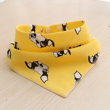 Hot Sale Small Dog Bandana Pattern Little Neck Scarf for Pug French Bulldog Beagle Pet Cat Accessories