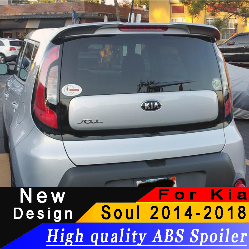 For Kia Soul 2014 to 2018 Spoiler High quality ABS material Primer or any color Rear