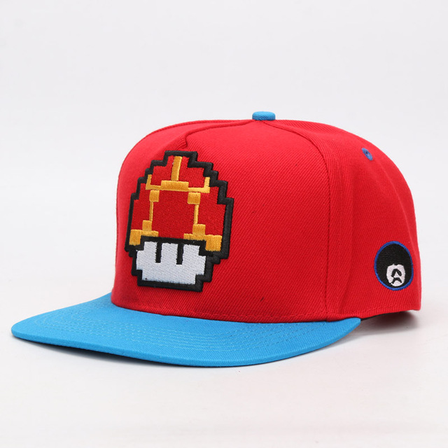 0f8bc3d62fb Game Super Mario Bros Mario Luigi Yoshi Snapback Baseball Caps Cartoon  Casual Summer Sun Hats Couple Hip Hop Caps