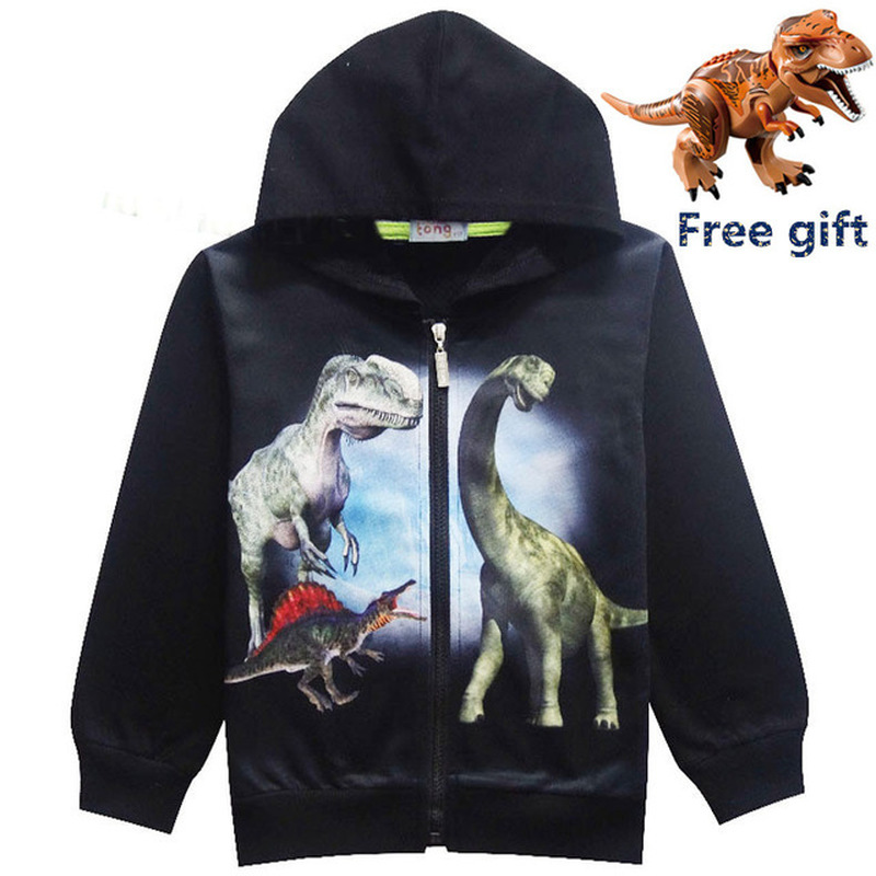 New Jurassic World Dinosaur Children Toddler Boys T Shirt Spring Autumn Baby Gilrs Kids Hoodie Tops Tee for Boy Clothes Clothing 2