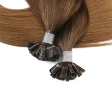 U Tip Hair Extensions Keratin Tipped Hair Extenions Color #4 Brown Ombre to #27 Blonde U-tip Human Hair Extensions 50g