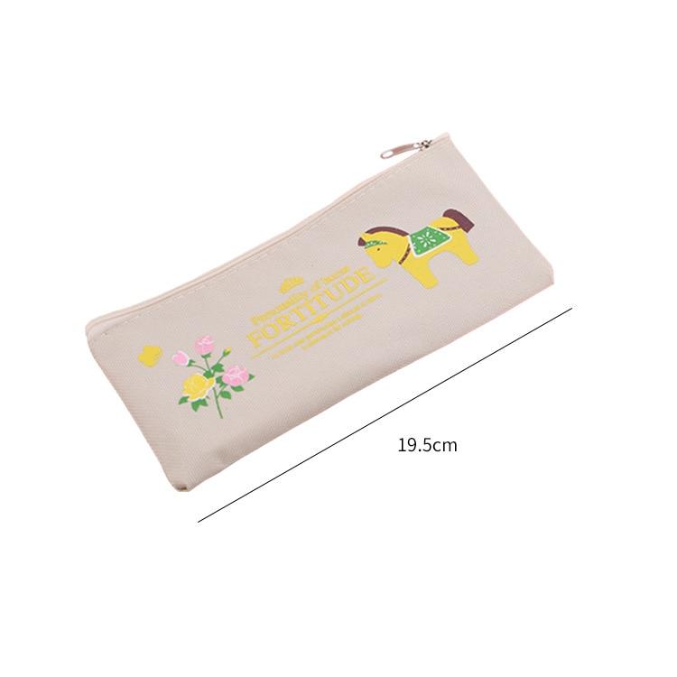 Купить с кэшбэком Pen Case Pencil Pouch Stationary Cartoon Canvas Pencil Case Coin Purse Stationery Bag Student Stationery Pencil Bag BD040G