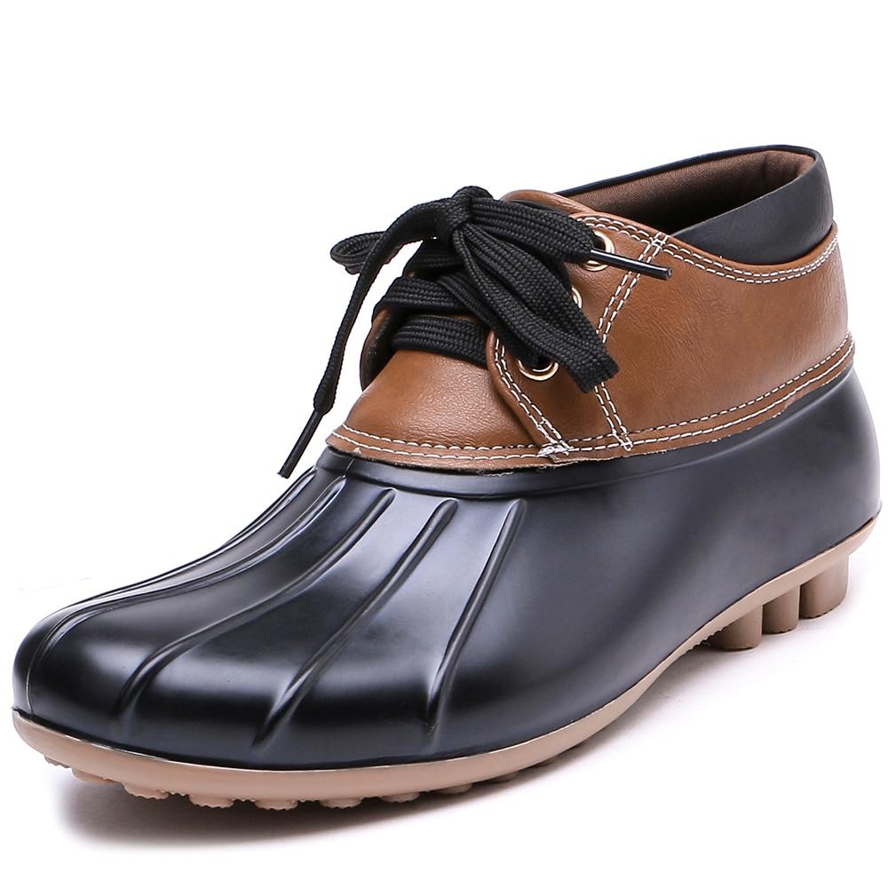 0b11a7e9836890 TONGPU Femmes de Jardin Chaussures ECO-PVC Étanche Faible Talon  Cheville-Haute Pluie Bottes 28-301