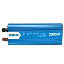 2000W Pure Sinusoidal Inverter Solar Inverter Multifunctional Travel Power Supply Control Car power inverter 2 universal socket