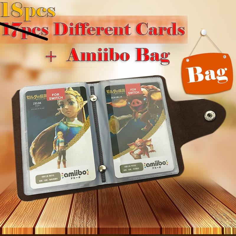 18pcs Zelda Amiibo Card NFC Amiibo Tag Breath of the Wild Full Set 20 Heart Wolf Link Fierce Deity Ntag215