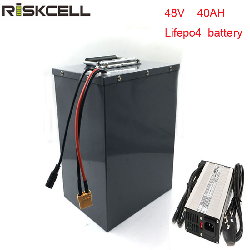 48V 40Ah lifepo4 battery pack for electric bike electric bicycle golf car 48v 1000w motor 30A discharge + 58.4v 5A Charger free customs taxes powerful 48v 1000w electric bike battery pack li ion 48v 34ah batteries for electric scooter for lg cell