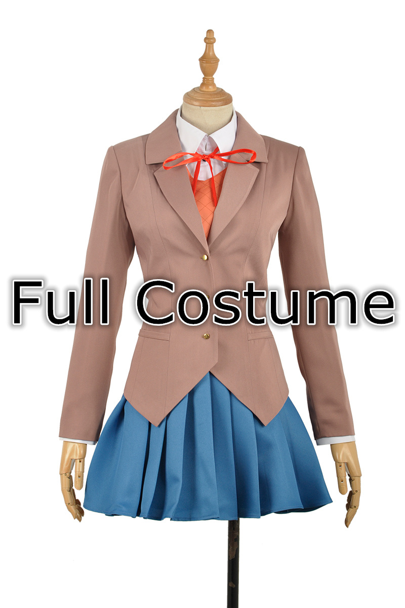Game Female School Uniform Dress Cosplay Costume Adult Women Outfit Clothing in stock For Cos (Top+Skirt+Vest+Shirt+Accessories)