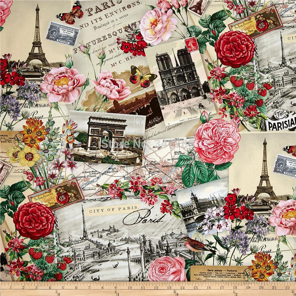 Vintage Floral Print Vintage Floral Print Cotton Fabric For Dress Sewing Cloth Textile
