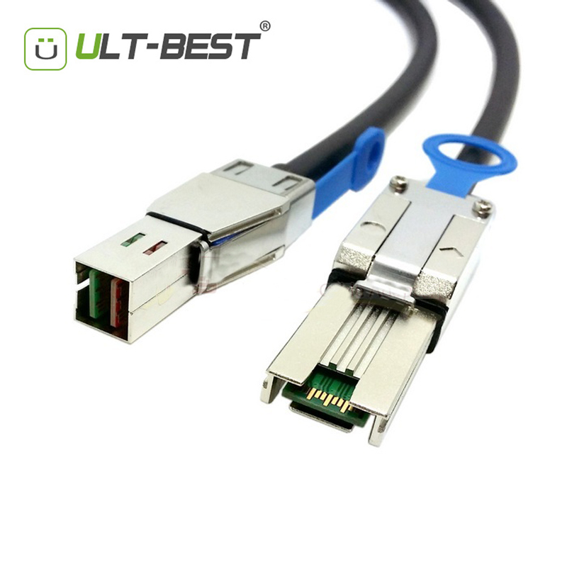 купить ULT-BEST External HD Mini SAS SFF-8644 to Mini SAS 26pin SFF-8088 cable 1M With IC Cable недорого