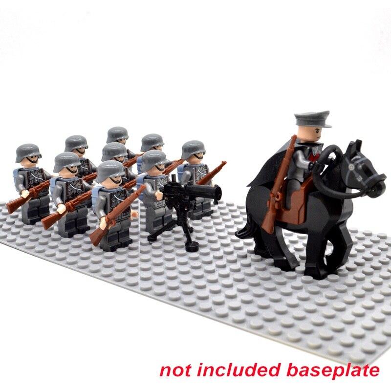 Ziegel WW2 armee Soldaten Troop Military Deutsch Russland US UK Sowjetunion Italien Frankreich Japan block Gebäude Spielzeug