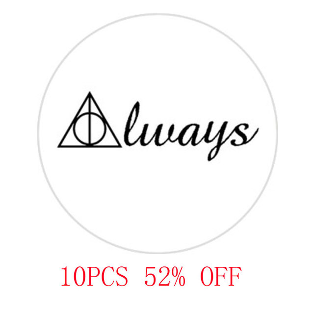 Hp Deathly Hallows Symbol Glass Cabochon Necklace Keyring
