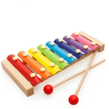 Wooden Montessori Kids educational toy octave knock on the piano beat xylophone preschool music puzzle toys