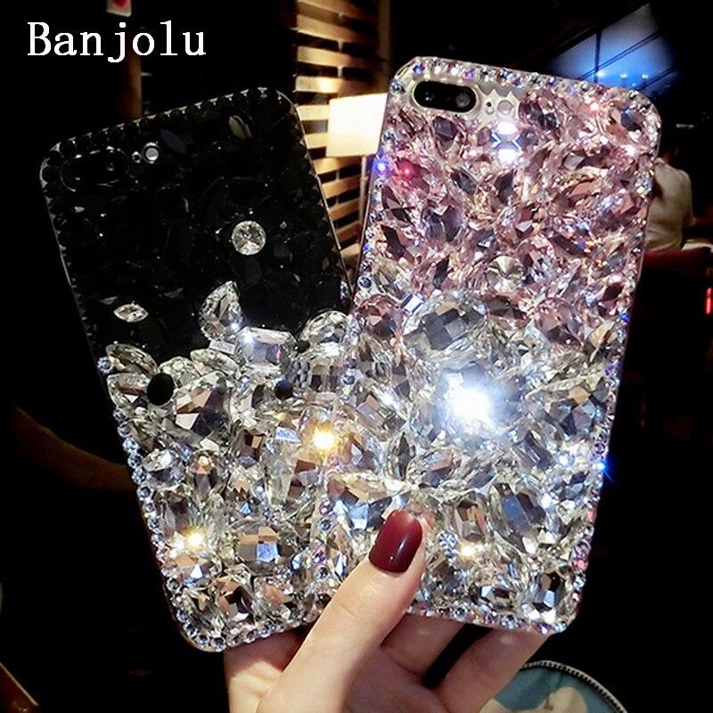 Banjolu New Luxury Bling Crystal Rhinestone Phone Cases For IPhone 6 6s Plus 7 7Plus Hard