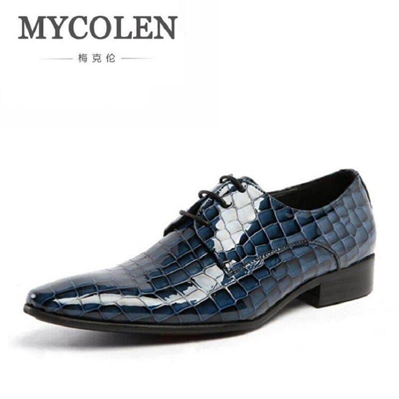 MYCOLEN Men Oxfords Brand Fashion Lace-Up Formal Oxfords Men Wedding Shoes Men Black Business Casual Party Flats Luxury Product good quality men genuine leather shoes lace up men s oxfords flats wedding black brown formal shoes