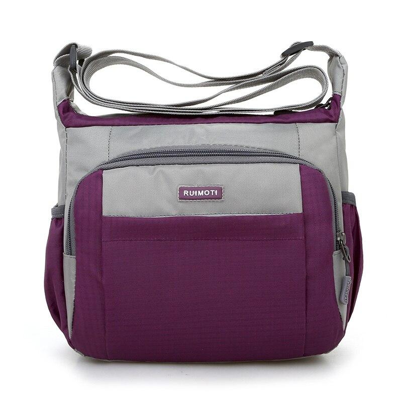 Joining together Messenger Bag Preppy Style Waterproof Nylon Crossbody Bag Contracted Joker Leisure and Travel Bag Shoulder Bag 1
