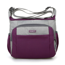 Joining together Messenger Bag Preppy Style Waterproof Nylon Crossbody Contracted Joker Leisure and Travel Shoulder