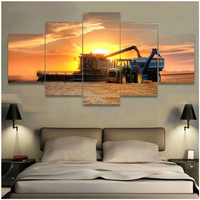 Diamond Painting Full Square round drill Machine Tractor Farm Harvest Daimond Rhinestone Embroidery Mosaic sunset 5pcsZP 2744