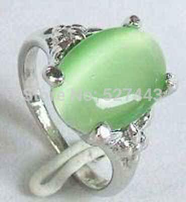 ร้อนขาย>@@ขายส่ง>>สวยสีเขียวหยกแหวนขนาด: 7, 8, 9 #