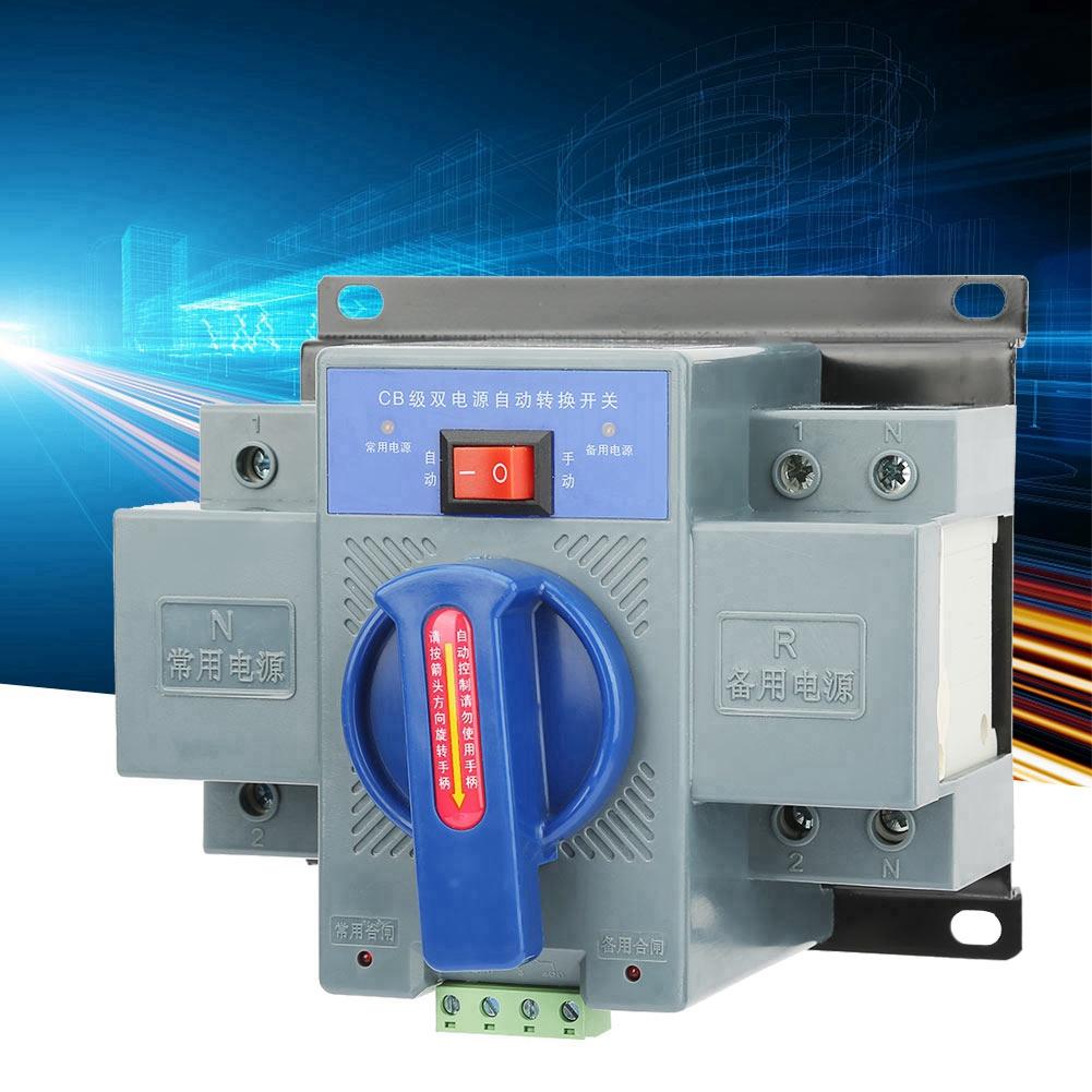 Mini 2P Automatic Transfer Switch 63A 2P Dual Power Automatic Transfer Switch