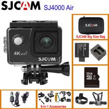 "SJCAM SJ4000 AIR 4K 30fps Action Camera Allwinner Chipset 1080P 60FPS WiFi Sport DV 2.0"" Mini Helmet Camera Waterproof Sports DV(China)"