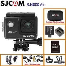 "Экшн камера SJCAM SJ4000 AIR 4K 30fps, набор микросхем Allwinner 1080P 60FPS WiFi Sport DV 2,0 "", Водонепроницаемая мини камера для шлема, Спортивная DV"