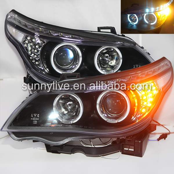 E60 523i 525i 530i Head Light Angel Eyes For BMW original car without HID kit 2003 2005 Year