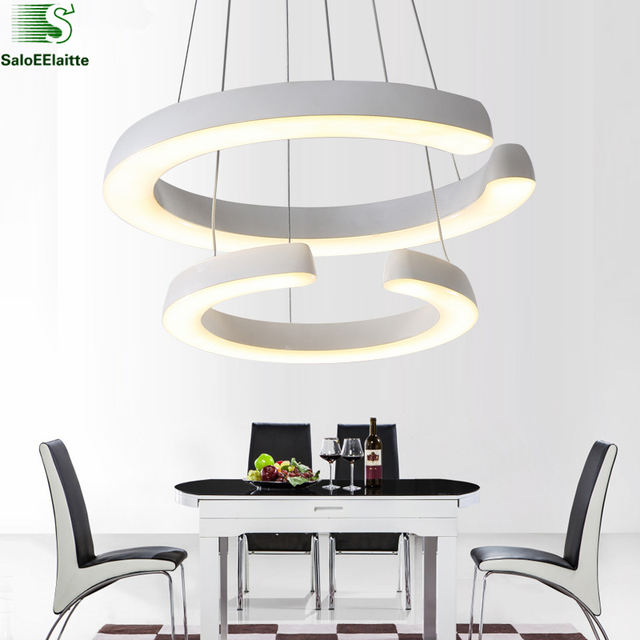 Household lighting fixtures Room Modern Acrylic Circle Rings Led Chandelier Lustre Luminaria Led Chandelier Lighting Pendant Fixtures Household Lighting Decoist Modern Acrylic Circle Rings Led Chandelier Lustre Luminaria Led