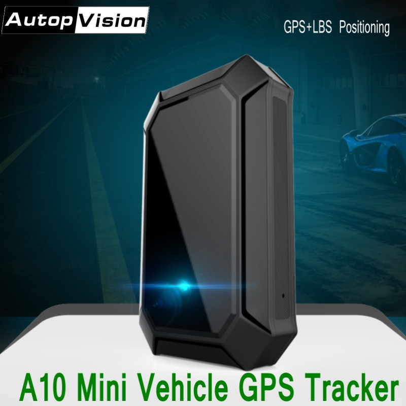 A10 Mini GPS Tracker GPS LBS Real-time Tracking Locator for Car Vehicle with Geo-fencing Function Portable GSM GPRS GPS Tracker mini portable gps locator real time tracker sos communicator with lanyard for car person