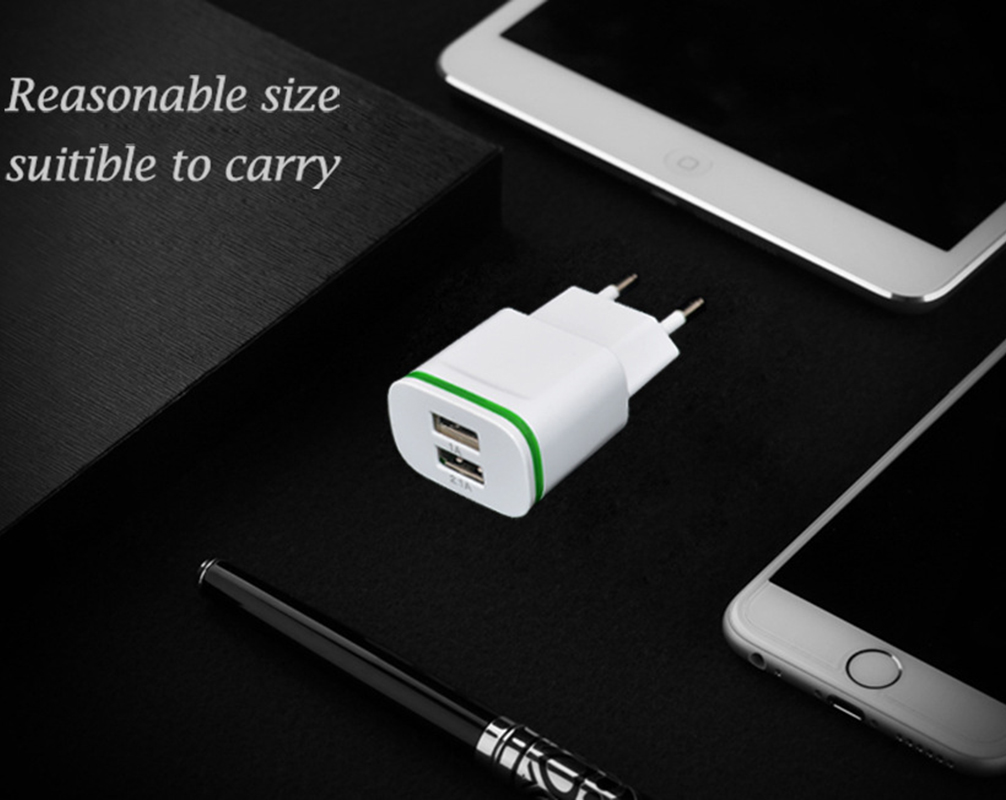 5v 2 1a Travel Usb Charger Adapter Eu Plug Mobile Phone