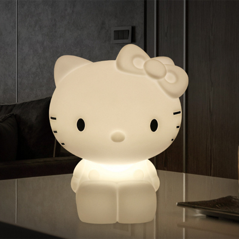 Hello Kitty Led Night Light Dimmable for Baby Children Kids Gift Animal Cartoon Lamp Decorative Bedside Bedroom Living Room 50cm rabbit led night light dimmable for children baby kids gift animal cartoon decorative lamp bedside bedroom living room
