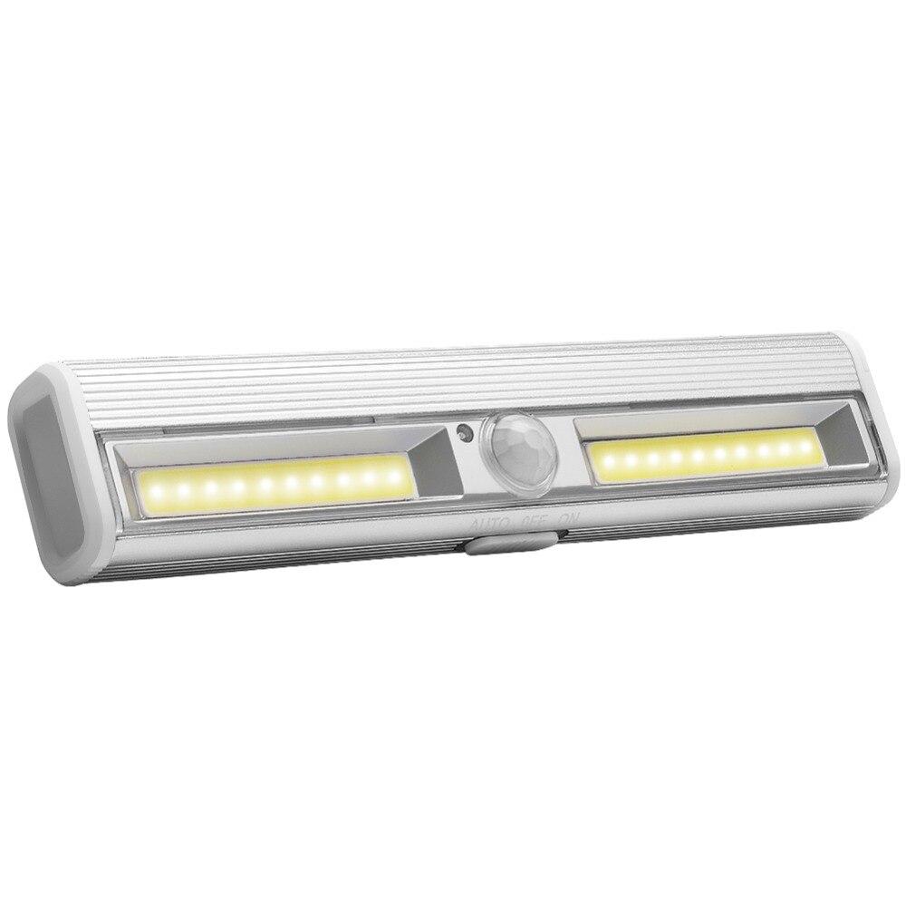 PANYUE 10 pièces LED sous meuble lumière capteur de mouvement lampe éclairage pour armoire placard placard cuisine veilleuse aimant