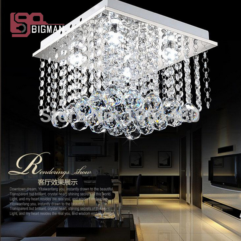 holiday sales new flush mount crystal ceiling lights bedroom lamp ...