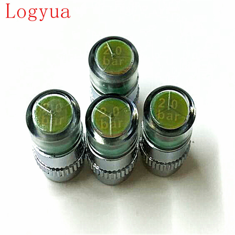 4Pcs/Lot 2.0Bar 30PSI  Universality Air Warning Alert Tire Valve Pressure Sensor Monitor Light Cap Indicator For Car Tire Caps