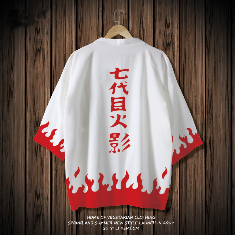 Kumamon Japanese Style Kimono Coat Couples T-shirt Sun protection Jacket