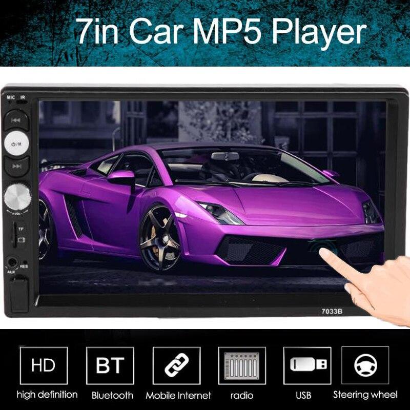 VODOOL Car Multimedia Player 7033DR 7Inch 2Din Car Stereo MP5 Player FM Radio Bluetooth USB AUX