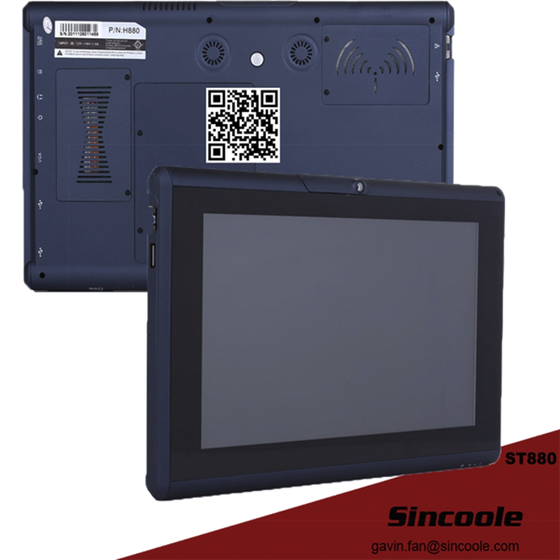 Windows 7 / ubuntu Rugged Tablet pc for outside working rfid 125khz 7 inch fingerprint rugged tablet pc industry pc